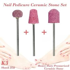 Nail Pedicure Condorum Stone Ceramic Bit Drill Bur Cuticle Remove 3/32 Set K3