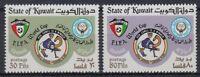 134.KUWAIT1979 SET/2 STAMP FIFA WORLD CUP FOOTBALL, SPAIN 82, CAMEL . MNH