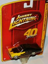 Forty Years R4 - 1965 CHEVY IMPALA  black-yellow/flames - 1:64 Johnny Lightning