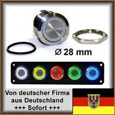 28mm Drucktaster LED grün Klingelknopf Hupe Edelstahl Wasserdicht IP67