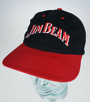 Jim Beam Black & Red Cap Plastic Snap Closure Hat