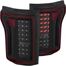 Anzo USA L.E.D. TailLights (Black) for 2015-2016 Ford F-150 XL / XLT