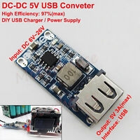 DC-DC Buck Module 6V-24V 9V 12V to 5V 3A Converter USB Charger Car Battery DIY
