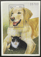 Bhutan Dogs Of The World Stamps Ss 1997 Mnh Hovawart Cat Animals Pet Canine