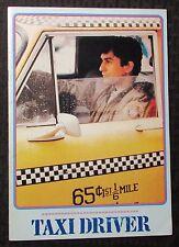1976 TAXI DRIVER Original Japanese Souvenir Program FVF 7.0 Robert De Niro