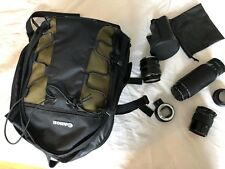 3 Canon Sony Camera Lens w/ Bag 1 Adapter ef-nex 1 extra extension & Sony a7s ii