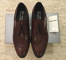 Brand New w Box Antonio Maurizi Leather Apron Split Toe Shoes Brown for Men US 8