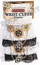 Steampunk White Lace Wrist Cuffs ADULT STANDARD RM3455