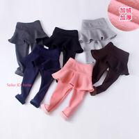 Kids Girls Winter Warm Leggings Fleece Lined Pant Thermal Stretch Skirt Trousers