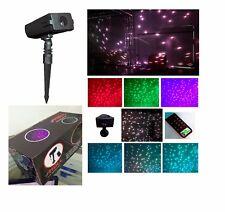 LEDMALL Full Spectrum Motion Star Effects 7 color WHITE Laser Christmas Lights