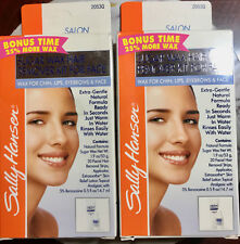 2X Sally Hansen Sugar Wax Hair Remover Kit For Face ,Chin,Lips,Brows NEW