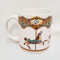 Merry Go Round Carousel Horses Coffee Mug 10 oz Cup Willitts 1986 Korea