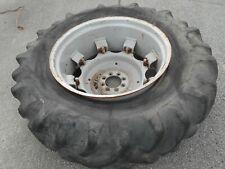 Massey Ferguson 596 Rear Tire And Wheel 184 X 34 Goodyear