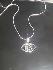 New Orleans Saints Pendant Necklace Sterling Silver Chain NFL Football