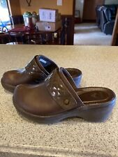 Women's Size 7 Brown Clogs/Mules Embelished