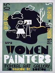 ART GALLERY WOMEN PAINTERS USA BOSTON VINTAGE POSTER ART PRINT 12x16 inch 862PY