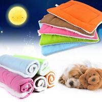 Pet Bed Cushion Mat Pad Dog Cat Kennel Crate Warm Cozy Soft Blanket M L XL US
