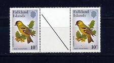 Îles falkland 1982 passereaux SG434w wmk vertical gouttière paire neuf sans charnière