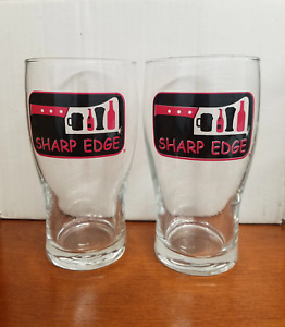 Sharp Edge Creek House Pint Beer Glasses 24 Count Case Pink and Black