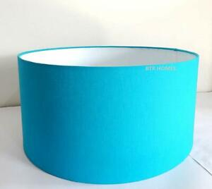Tripod and Floor Lamp Shade Stands Medium Size Cotton Fabric 12 inches Teal Blue