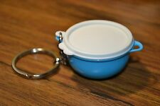 TUPPERWARE THATSA A BOWL KEY CHAIN CONTAINER (SALT WATER TAFFY COLOR) NEW