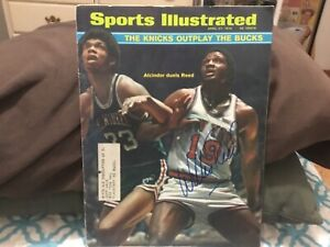 WILLIS REED SIGNED 1970 SPORTS ILLUSTRATED/ NEW YORK KNICKS NBA CHAMPIONS, MSG