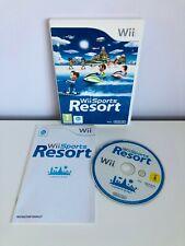 Nintendo Wii DEPORTES Resort juego con manual y tarjeta de puntos del club 2009-PAL-en muy buena condición