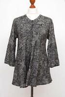 Divine The MASAI Clothing Company Black Lagenlook Viscose Top Tunic Shirt Size S