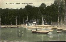 Versailles Frankreich Postkarte ~1910 Le Grand Canal Kanal mit Booten ungelaufen