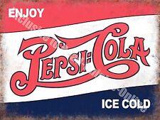 Pepsi COLA CLASSIC DRINK Pubblicità Caffè Tavola Calda PUB BAR Piccolo Metallo/tin sign