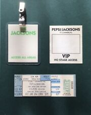 SALE..MICHAEL JACKSON 1984 PEPSI COMMERCIAL FILM TICKET, ALL ACCESS & VIP PASSES