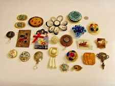 23 vintage tasteful artisan nice hand crafted jewelry unique brooch lot 46719