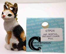 Japanese Bobtail, Trt/White Cat Chain Pull Conv. Concepts, Item Ctp24