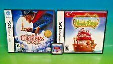 Noah's Ark, Rudolph Red Nose, Christmas Carol - Nintendo DS DS Lite 3DS Games
