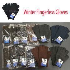 12pair Men's Women Knitted Fingerless Half Finger Magic Winter Gloves Mitten Lot