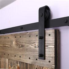 Perfect 4 20FT Wood Sliding Barn Door Hardware Closet Kit For Single/Double/Bypass