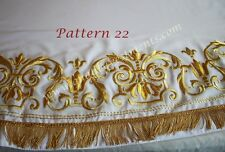 Bishop White Sticharion Stikhar Podriznik Embroidered Pattern Gold Fleur Des Li