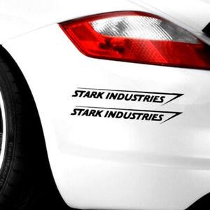 2X Stark Industries Car Sport Racing Body Stripes Stickers Vinyl Dec I*wf