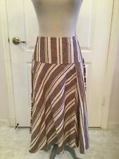 The Gap Ivory And Tan Linen Skirt Size 8