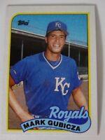 1989 Topps Mark Gubicza Kansas City Royals Wrong Back Error Baseball Card
