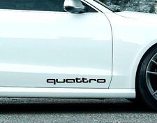 2x Schriftzug QUATTRO Auto Aufkleber für Audi, 30 x 3,3 cm, Vinyl Auto Tattoo 14