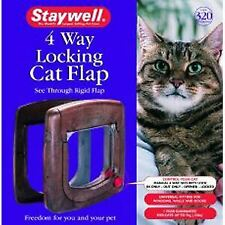 Staywell Cat Door 320 4 Way + Tunnel Woodgrain - 37641