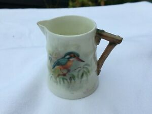 """SUPERB WILLIAM POWELL ROYAL WORCESTER HAND PAINTED""""KINGFISHER"""" JUG"""