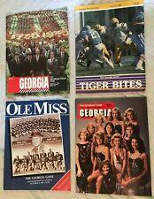 Lot 4 Georgia Bulldog Football Programs 1984 1986 1987 Richmond Ol Miss LSU Tech