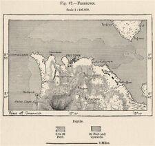 Freetown. Sierra Leone. South Senegambia 1885 old antique map plan chart