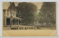 Effort Pa Main Street Monroe County c1906 Postcard N6