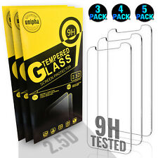 iPhone 12 11 Pro Max Mini SE XR XS 8 7 Screen Protector TEMPERED GLASS Pack Lot