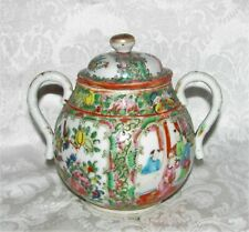 New listing Antique Chinese Export Rose Medallion Sugar Bowl 19th Century