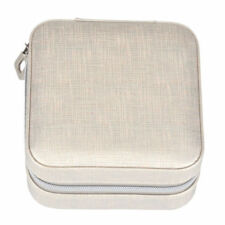 Womens Travel Portable Jewellery Box Organizer Mirror Drawer Storage Case Silver