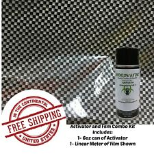 Hydrographic Water Transfer Hydro Dip 6oz Activator Amp 1m Check Carbon Film Kit